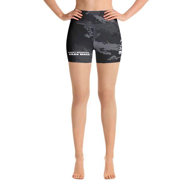 35711a57bfb9e Camo Yoga Shorts | Skulls & Hebrew KM 2.0 – Krav Maga Online